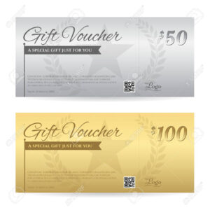Elegant Gift Voucher Or Gift Card Certificate Template In Gold.. intended for Elegant Gift Certificate Template