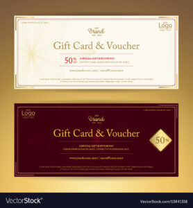 Elegant Gift Voucher Or Gift Card Or Coupon with regard to Elegant Gift Certificate Template