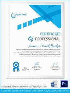 Elegant Photos Of Free Certificate Templates For Word | Template inside Word 2013 Certificate Template