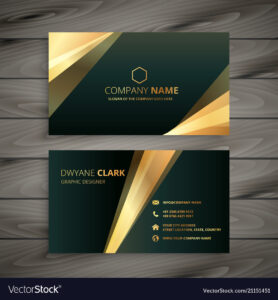 Elegant Premium Golden Business Card Template for Buisness Card Template