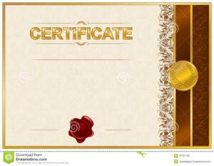 Elegant Template Of Certificate, Diploma Stock Illustration inside Elegant Certificate Templates Free