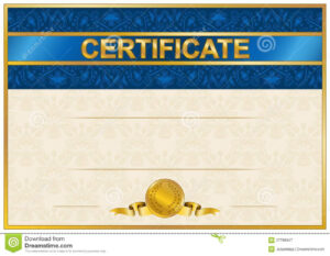 Elegant Template Of Certificate, Diploma Stock Vector within Elegant Certificate Templates Free