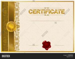 Elegant Template Vector & Photo (Free Trial) | Bigstock with Elegant Certificate Templates Free