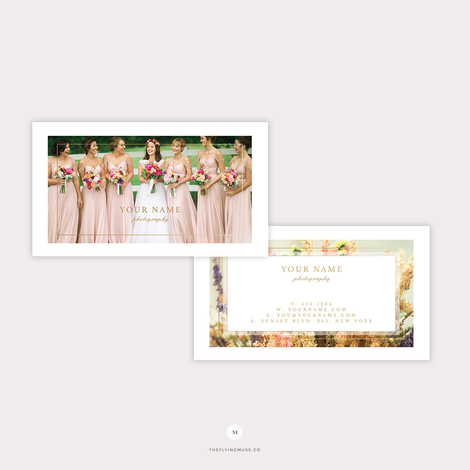 Elegant Wedding Photography Business Card Template – The Flying Muse Throughout Photography Referral Card Templates