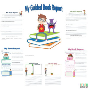 Elementary Guided Book Report Regarding One Page Book Report Template