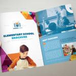 Elementary School Brochure Template 3Xa4 Trifold With Regard To Tri Fold School Brochure Template