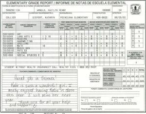 Elementary School Report Card Template | Homeschooling for Homeschool Middle School Report Card Template