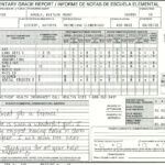 Elementary School Report Card Template   Homeschooling Intended For High School Report Card Template