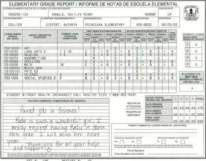 Elementary School Report Card Template | Homeschooling intended for High School Report Card Template