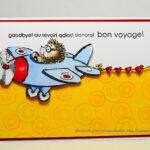 Elizabeth Allan's Art Studio: Bon Voyage! Intended For Bon Voyage Card Template