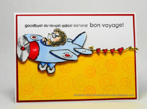 Elizabeth Allan's Art Studio: Bon Voyage! intended for Bon Voyage Card Template