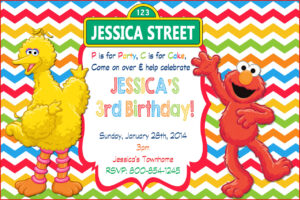 Elmo Birthday Invitations – Sesame Street Personalized regarding Elmo Birthday Card Template