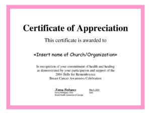 Employee Appreciation Certificate Template Free Recognition intended for In Appreciation Certificate Templates