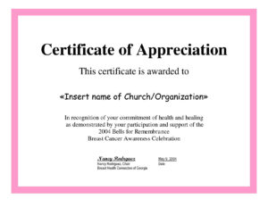 Employee Appreciation Certificate Template Free Recognition with regard to Formal Certificate Of Appreciation Template