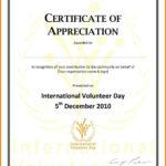 Employee Appreciation Certificate Template Free Resume For Volunteer Certificate Templates