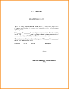 Employee Certificate Template Word | Certificatetemplateword throughout Good Job Certificate Template