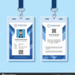 Employee Id Card Design Template   Blue Employee Id Card Within Company Id Card Design Template
