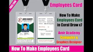 Employee Id Card Latest In Corel Draw | Company Id Card Design | School  Identity Card Design for Faculty Id Card Template