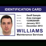 Employee Id Card Templates Clipart Images Gallery For Free For Work Id Card Template