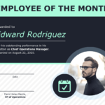 Employee Of The Month Certificate Of Recognition Template regarding Manager Of The Month Certificate Template