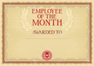 Employee Of The Month – Certificate Template in Manager Of The Month Certificate Template