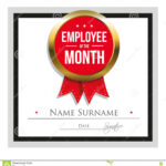 Employee Of The Month Certificate Template Stock Vector For Employee Of The Month Certificate Template With Picture