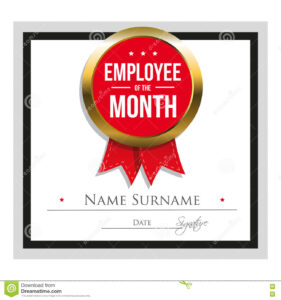 Employee Of The Month Certificate Template Stock Vector with Star Of The Week Certificate Template
