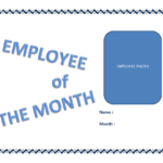 Employee Of The Month Certificate Template   Templates At Within Employee Of The Month Certificate Template With Picture
