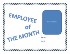Employee Of The Month Certificate Template | Templates At within Employee Of The Month Certificate Template With Picture