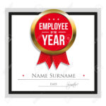 Employee Of The Year Certificate Template inside Employee Of The Year Certificate Template Free