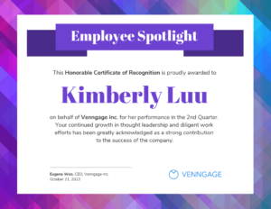 Employee Spotlight Certificate Of Recognition Template regarding Employee Anniversary Certificate Template