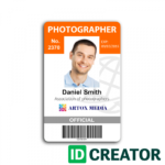 Employees Id Card Template Cards Format Lara intended for Photographer Id Card Template