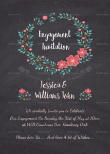 Engagement Invitation Card Template Throughout Engagement Invitation Card Template