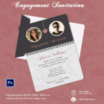 Engagement Invitation Cards Templates – Party Invitation Within Engagement Invitation Card Template