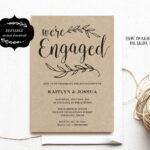 Engagement Invitation Template, Printable Engagement Party With Regard To Engagement Invitation Card Template