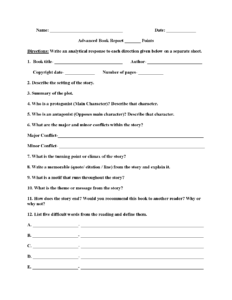 Englishlinx | Book Report Worksheets regarding Book Report Template 5Th Grade