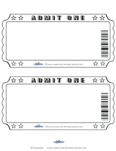 Entry Ticket Template – Wovensheet.co with regard to Blank Admission Ticket Template