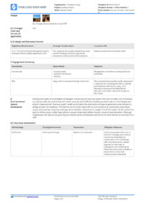 Environmental Impact Statement Example (Free And Customisable) In Environmental Impact Report Template