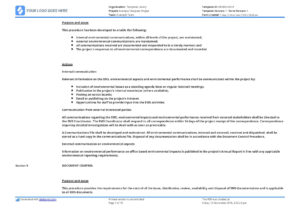 Environmental Management System Template [Free To Use And Within Environmental Impact Report Template