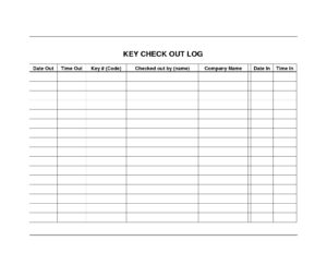 Equipment Check Out Sheet Template – Wosing Template Design Regarding Check Out Report Template