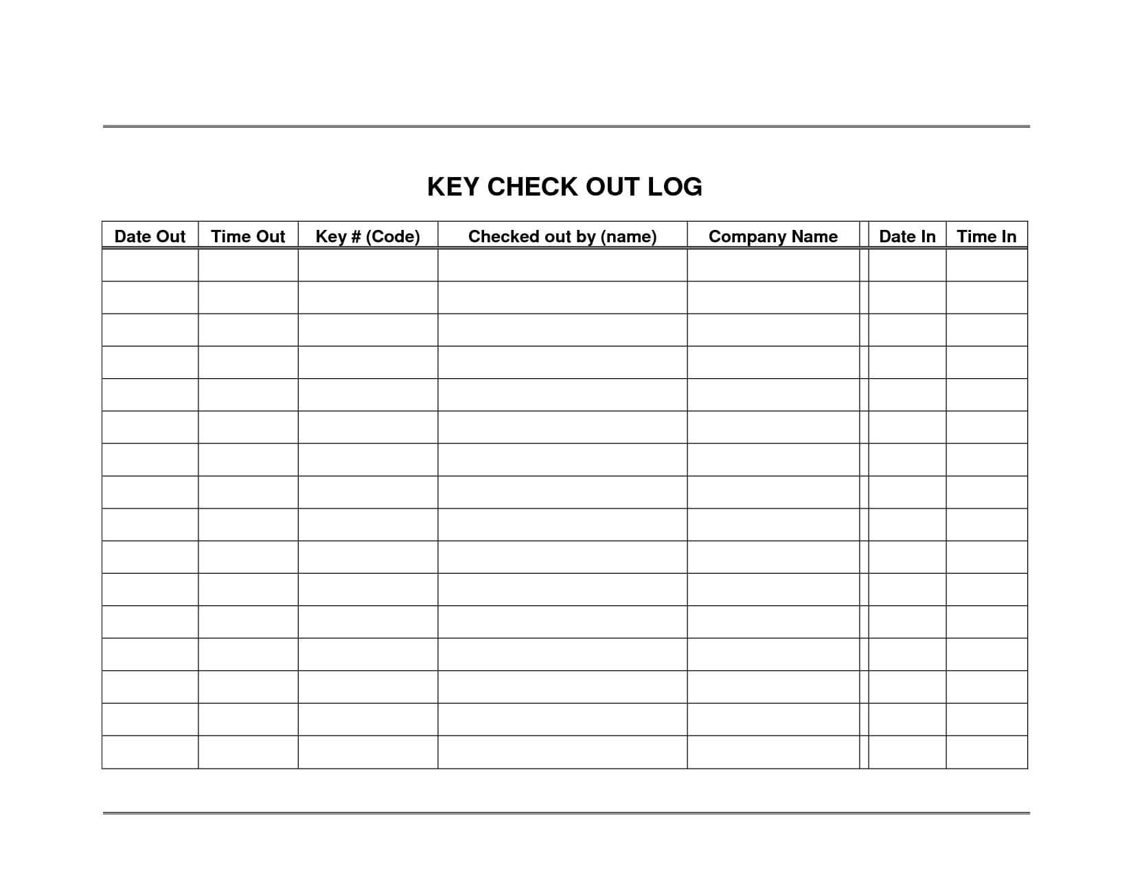 Equipment Check Out Sheet Template - Wosing Template Design Regarding Check Out Report Template