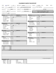 Equipment Inspection Report Template Images Of Nategray Net within Daily Inspection Report Template