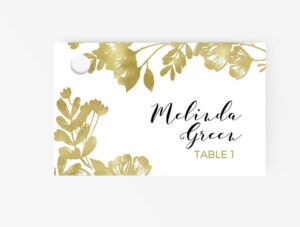 Escort/place Cards Editable Ms Word Template Diy | Floral with Ms Word Place Card Template