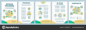 Ethics Training Brochure Template Layout Core Values Flyer pertaining to Training Brochure Template