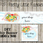Etsy Shop Banner Diy Banner Template Premade Etsy Store Large Banner And  Icon Lace Doily Banner Digital Roses Within Etsy Banner Template