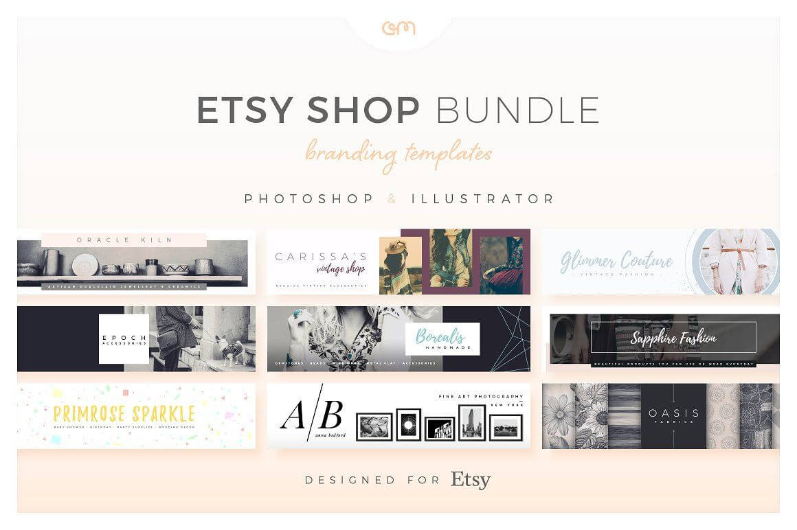 Etsy Shop Bundle - Web Elements - Etsy Banners - Etsy Pertaining To Etsy Banner Template