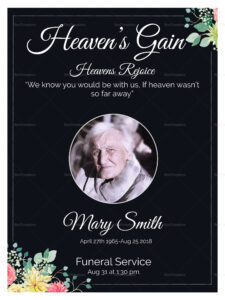 Eulogy Funeral Invitation Card Template with regard to Funeral Invitation Card Template