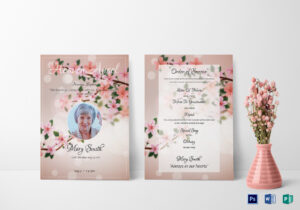 Eulogy Funeral Invitation Template throughout Funeral Invitation Card Template
