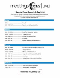 Event Agenda Template Word Free Templates Conference One Day in Event Agenda Template Word