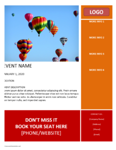 Event Flyer Template Word Archives | Freewordtemplates regarding Templates For Flyers In Word